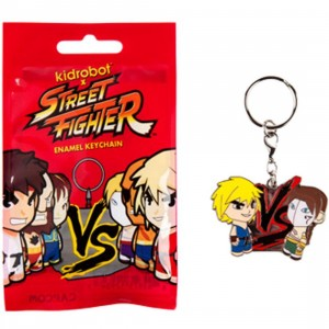 Kidrobot x Street Fighter Enamel Keychain - 1 Blind Box