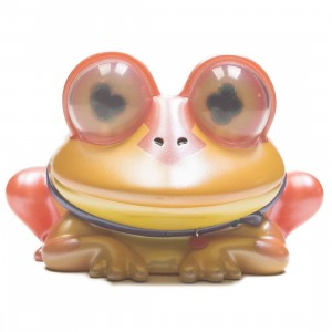 Kidrobot x Futurama All Hail Hypnotoad 6 Inch Metallic Art Medium Figure (orange)