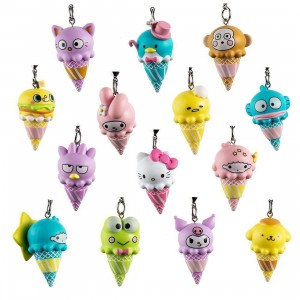 Kidrobot x Sanrio Ice Cream Cone Vinyl Keychain Series - 1 Blind Box