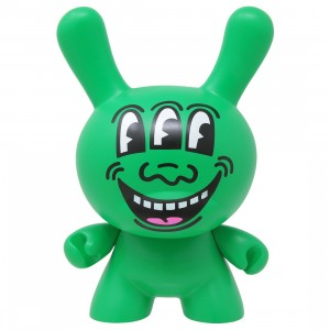 Kidrobot x Keith Haring 8 Inch Masterpiece Dunny Three Eyed Monster Figure (green)