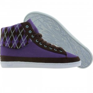 Keep Womens Guerra (purple / brown argyle)