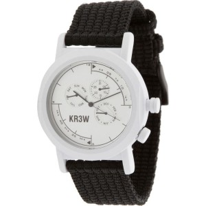 KR3W Navigator Watch (white / black)