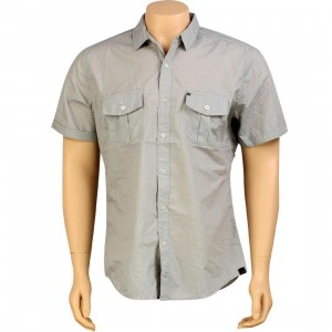 KR3W Quincy Short Sleeve Shirt (grey heather)