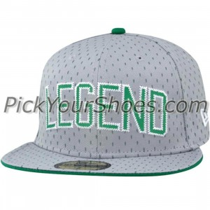 K1X Larry Legend Fitted Cap (heather grey / boston green)