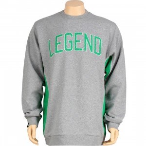 K1X Larry Legend Crewneck (heather grey / boston green)