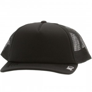 K1X Plain Tag Trucker Cap (black / white)