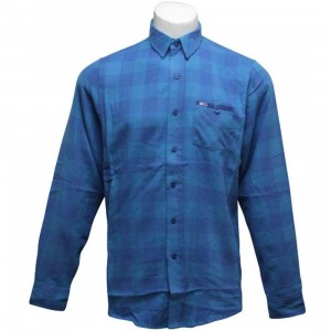 K1X Hacksaw Jim Flanell Shirt (cyan / true blue)