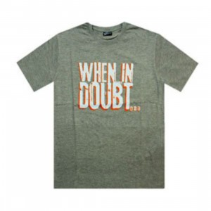 K1X When In Doubt Tee (dark grey heather / white)