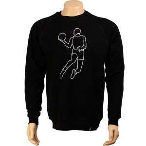 K1X Le Dunk Crewneck (black heather / white / red)