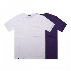 K1X Double Impact V-Neck Tees (white / purple heather)