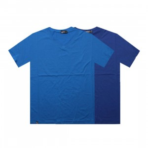 K1X Double Impact V-Neck Tees (true blue / cyan heather)