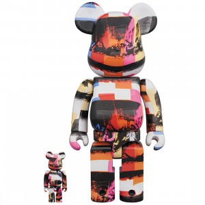 PREORDER - Medicom Andy Warhol The Last Supper 100% 400% Bearbrick Figure Set (multi)