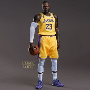 PREORDER - NBA x Enterbay LA Lakers LeBron James Real Masterpiece  1/6 Scale Figure (yellow)