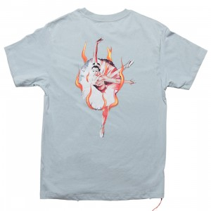 Lifted Anchors Men Ballerina Graphic Tee (blue / teal)