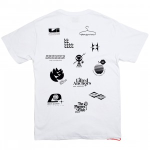 Lifted Anchors Men Network Graphic Tee (white)