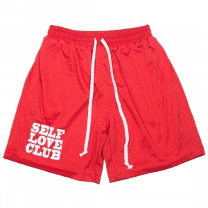 Lifted Anchors Men SLC Basketball Shorts (red)
