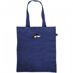 Lazy Oaf Killer Whale Tote Bag (blue / denim)