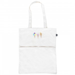Lazy Oaf Ice Cream Tote Bag (white / natural)