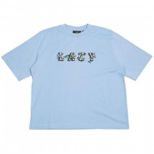 Lazy Oaf Women Lazy Flowers Tee (blue)