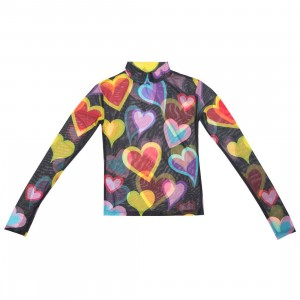 Lazy Oaf Women Party Heart Top (black)