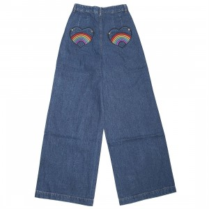 Lazy Oaf Women Rainbow Bum Jeans (blue / denim)