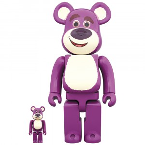 PREORDER - Medicom Toy Story Lots-O'-Huggin' Bear 100% 400% Bearbrick Figure Set (purple)