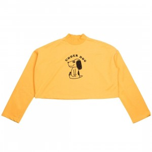 Lazy Oaf Women Underdog Long Sleeve Tee (yellow)