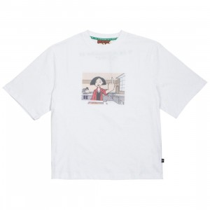 Lazy Oaf x Daria Women Jane Failing Tee (white)