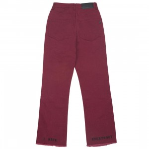 Lazy Oaf x Daria Women I Hate Everybody Jeans (burgundy)