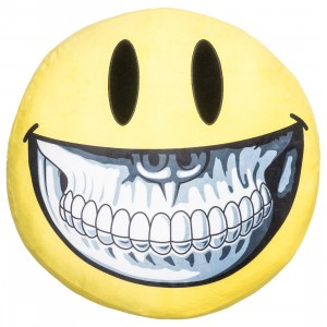 MINDstyle x Ron English 40cm Grin Pillow (yellow)