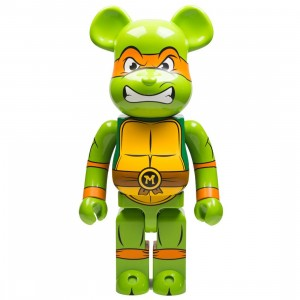 Medicom TMNT Michelangelo 1000% Bearbrick Figure Set (green)