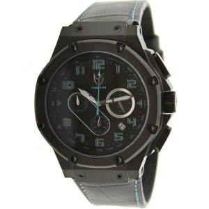 Meister Ambassador Crocodile Leather Strap Watch (black)