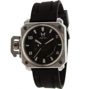 Meister Chief Rubber Strap Watch (silver / white / black)