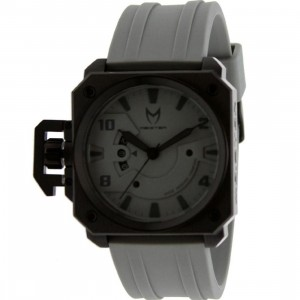 Meister Chief Rubber Strap Watch (black / grey)