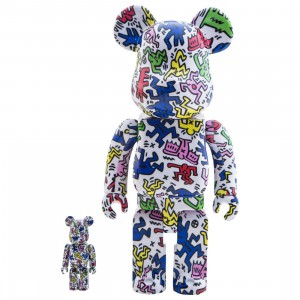 Medicom Keith Haring 100% 400% Bearbrick Figure Set (multi)