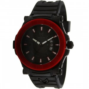 Meister Prodigy Watch (black / red / rubber band)