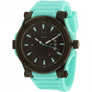 Meister Prodigy With Rubber Band Watch (black / teal)