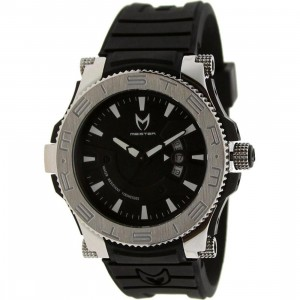 Meister Prodigy Stainless Watch (black / silver / rubber bands)