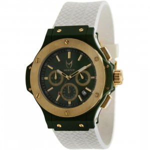 Meister PickYourShoes.com Exclusive Superstar Watch - Saint (white / emerald green / gold)