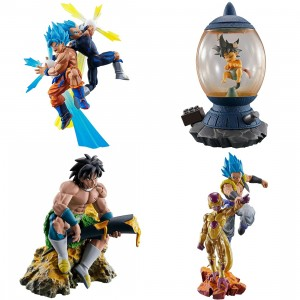 MegaHouse Dragon Ball Super Dracap Re Birth Super Power Ver. Box Of 4 Figures (multi)