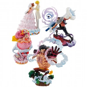 MegaHouse One Piece Logbox Re:Birth Whole Cake Island Ver. Limited Box Set of 4 Figures (multi)