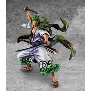 PREORDER - MegaHouse One Piece Portrait of Pirates Warriors Alliance Zoro Juro Figure (green)