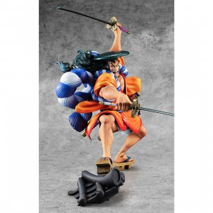 PREORDER - MegaHouse One Piece Portrait of Pirates Warriors Alliance Kozuki Oden Figure (orange)