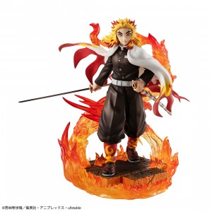 PREORDER - MegaHouse Demon Slayer Kimetsu no Yaiba G.E.M. Series Kyojuro Rengoku Figure (black)