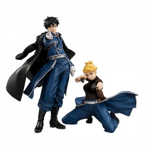 PREORDER - MegaHouse Fullmetal Alchemist Precious G.E.M. Roy Mustang And Riza Hawkeye Figures (navy)