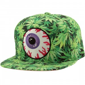 Mishka Secret Garden Keep Watch Sub Snapback Cap (green / grass green)