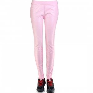 Married To The Mob Faux Leather Jogger Pants (pink)