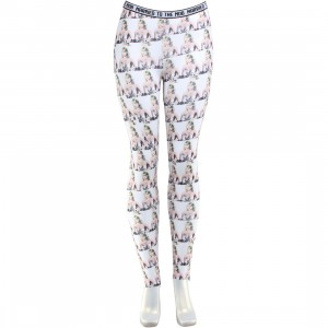 Married To The Mob Elvira Printed Leggings (white / multi)