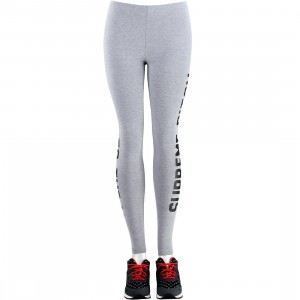 Married To The Mob Women Supreme Bitch Leggings (gray / heather gray)