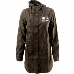 Married To The Mob Women Arch Mob Parka Jacket (green)